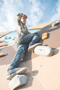 Things to do - boy on a climbing wall