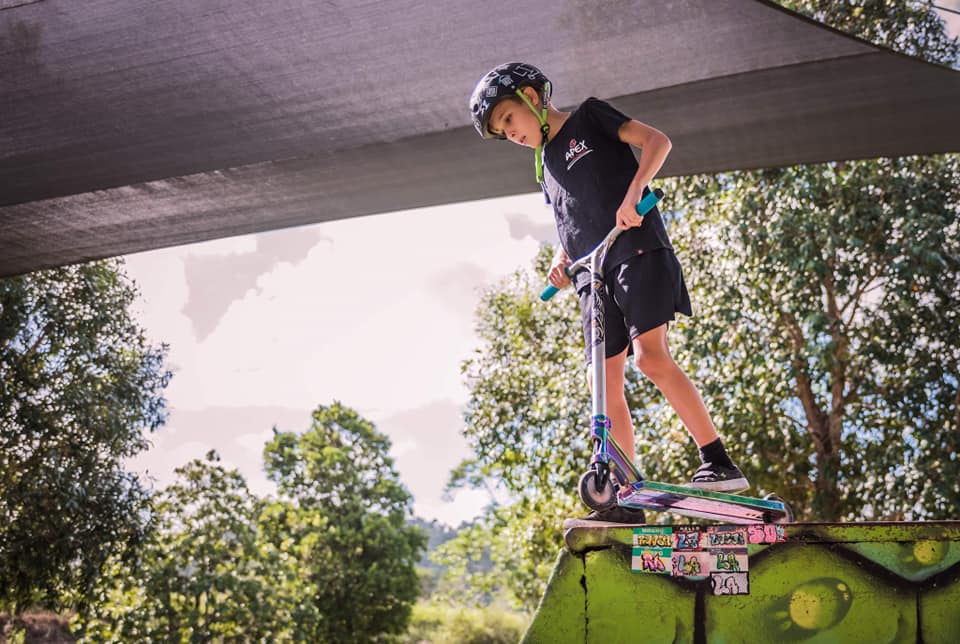 Difficult sections at Redlynch skate Park