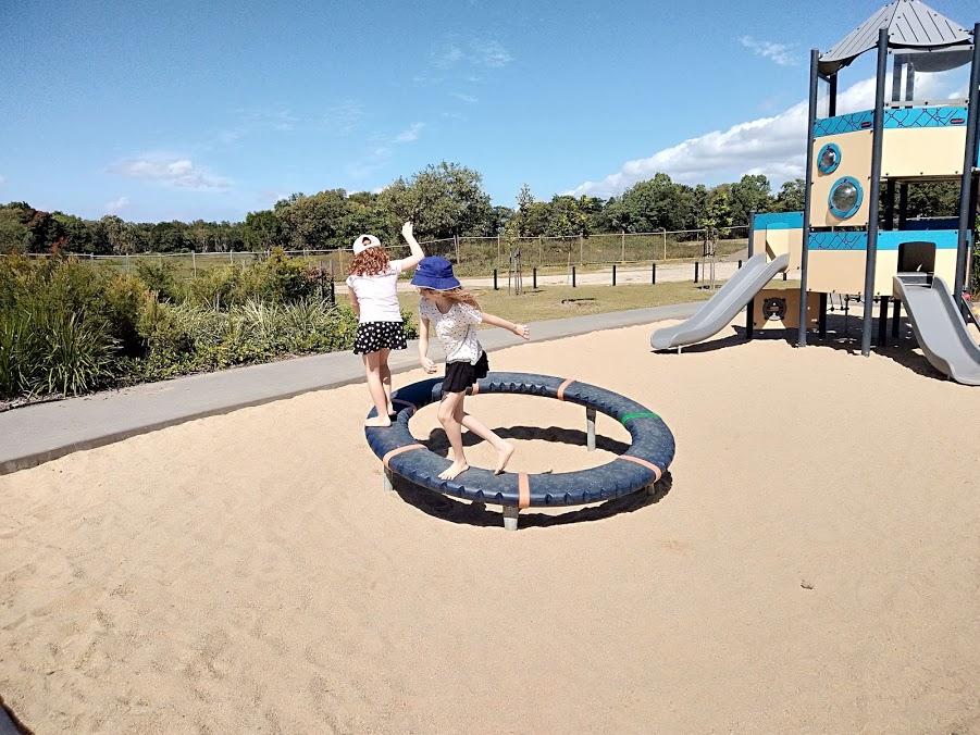 Blue water playground nova spinner