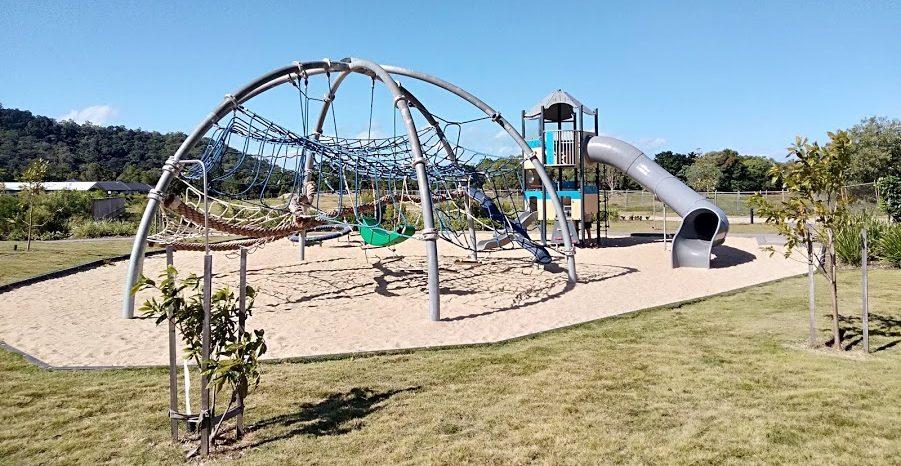 Blue water older kids playground