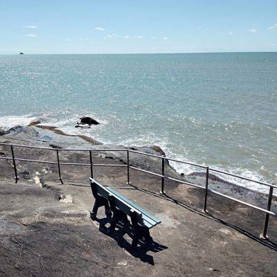 Seat on the rocks trinity beach