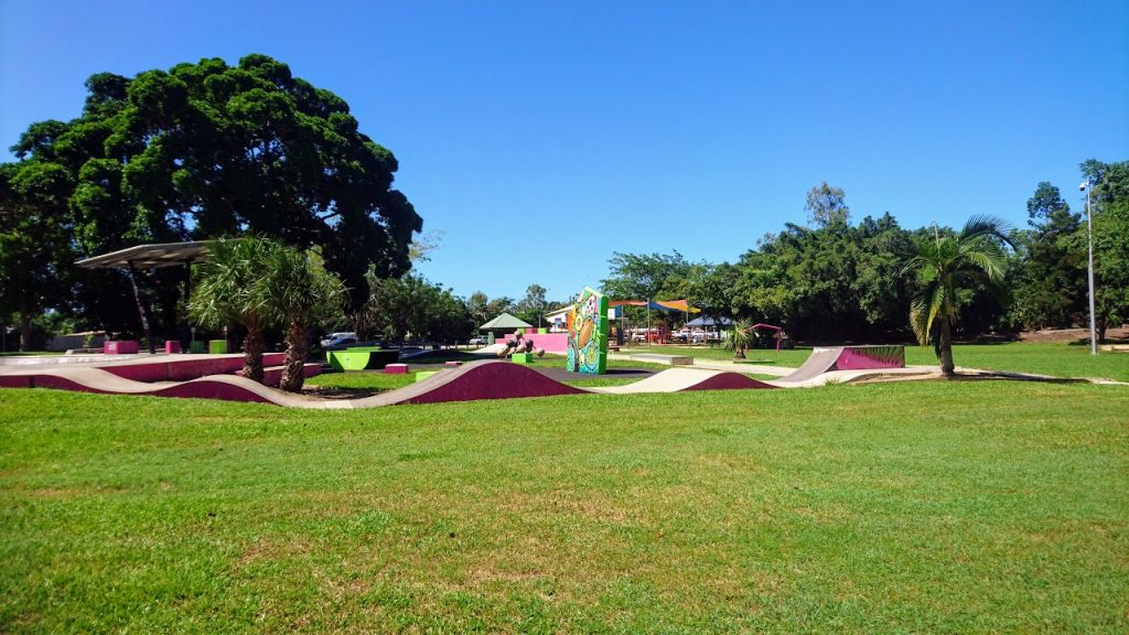 Speed bumps at Trinity Beach skate park