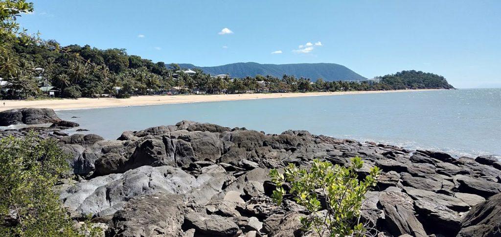 View from the rocks Trinity Beach