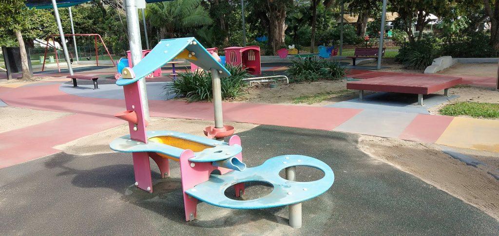 Toddler playground cairns
